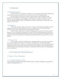 disaster recovery plan template disaster recovery disaster