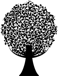 clipart green abstract tree silhouette