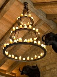 Real Candle Chandelier Wrought Iron Candle Foter