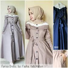 gamis modern gamis modern terbaru farisa dress grosir baju muslim pakaian