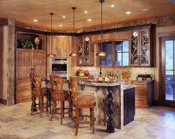 rustic kitchen island light fixtures with natural brown wooden