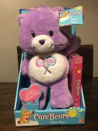 care bears share bear 2002 purple lillipop plush stuffed toy