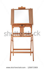 Wooden Easel Template Vector Illustration Paint Stock Vector