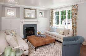 ottoman family today family room traditional with plaid chair