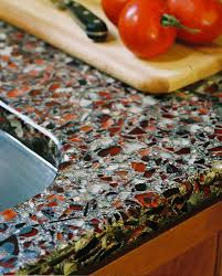Recycled Glass Backsplashes For Kitchens Bathroom Elegant Vetrazzo For Cozy Countertop Material Design