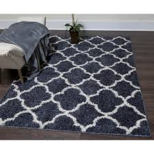 Blue And White Area Rugs Synergy Gray White 1 Ft 8 In X 2 Ft 7 In Indoor Area Rug 5a