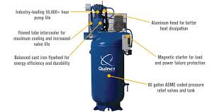 free shipping u2014 quincy qt 7 5 splash lubricated reciprocating air