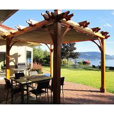 Outdoor Gazebo Curtains by Garden Treasures 10 X 10 Pergola Gazebo Curtains Ingenuity