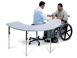hausmann hand therapy table horseshoe therapy table
