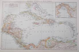 Central America And The Caribbean Map by Central America Caribbean Maps Maps Atlases Globes Men