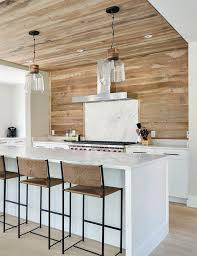 Modern Backsplash Kitchen by Wood Planked Kitchen Backsplash Mountainmodernlife Com