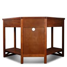 amazon com leick corner computer and writing desk oak finish
