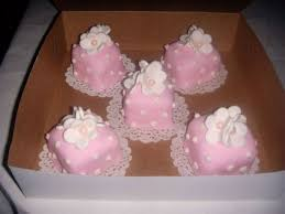 baby shower petit fours pink white cakecentral com