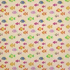 tropical wrapping paper tropical colorful fish kraft present gift wrap