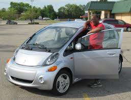 mitsubishi electric car electric vehicle presentation and demonstration rides in south