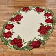 Cream Round Rug Floral Round Rugs Touch Of Class