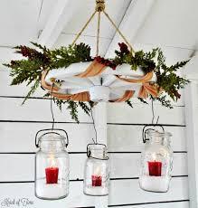 Mason Jar Wagon Wheel Chandelier Wagon Wheel Farmhouse Christmas Candle Chandelier Knick Of Time