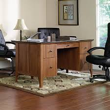 Sauder Office Desk Sauder Appleton Faux Marble Top Executive Desk Sand Pear By Office