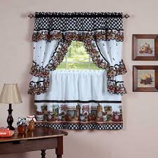 Chocolate Curtains With Valance Kitchen Curtains U0026 Bathroom Curtains Jcpenney
