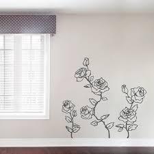 climbing roses wall decal