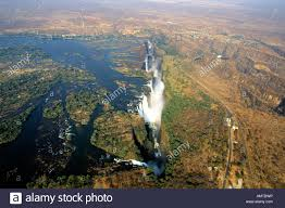 aerial view of the victoria falls one of the seven natural