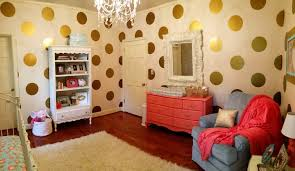Gold And Coral Bedroom Coral And Gold Glitter Nursery Project Nursery