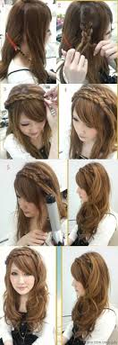 step by step hairstyles for long hair with bangs and curls 20 beautiful hairstyles for long hair step by step pictures