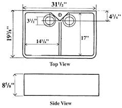 Kitchen Sink Dimensions - barclay fire clay farmer u0026 kitchen utility sinks