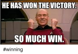 Victory Meme - he has won the victory so much win winning victorious meme on me me