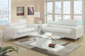 Sofas And Loveseats Sets by Contemporary White Bonded Faux Leather Sofa And Loveseat Set