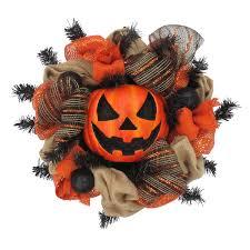 halloween large pumpkin mesh wreath halloween decoration new