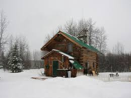 alaskan log cabin living