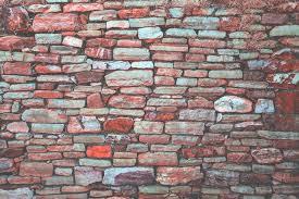stone brick old red stone brick wall free texture