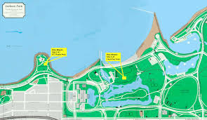 44th Ward Chicago Map by Nike Missile Site C 41 Promontory Point Jackson Park Chicago