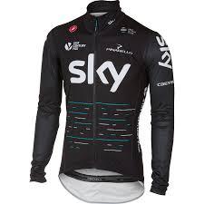 cycling rain gear wiggle castelli team sky pro fit rain jacket cycling