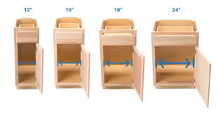 what is minimum base cabinet width what size cabinet is right for a pull out trash can