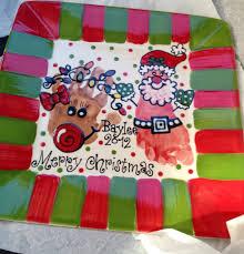baylee u0027s handprint and footprint christmas plate colton