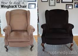 How To Reupholster A Wingback Armchair How To Dye A Wingback Chair Naptime Diy