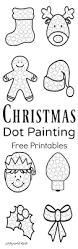 christmas dot painting free printables the resourceful mama