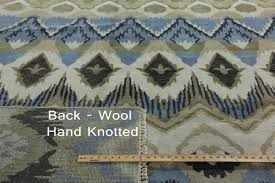 Rug 12 X 14 Ikat Hand Knotted Wool Rug 10 X 14