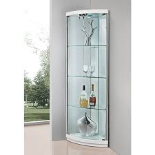 Corner Display Cabinet With Glass Doors Glass Corner Display Units For Living Room Captivating Interior
