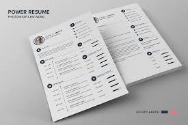 power resume cv smith resume templates creative market