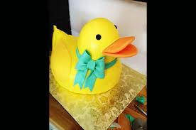 duck cake rubber duck cake sweet shiny
