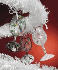 mini wine wine glass ornaments by