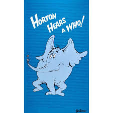 dr seuss horton hears large horton 36 panel blue