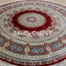 hand knotted 8 ft round area rugs camel carpet