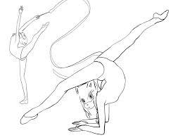 gymnastics coloring pages coloringsuite com