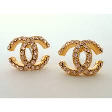 gold earring design gold earring studs classic c design inspir