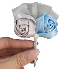 cheap corsages aliexpress buy wifelai a cheap silver baby blue satin roses