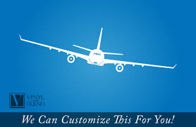 commercial airline twin jet plane aviation large a wall decor